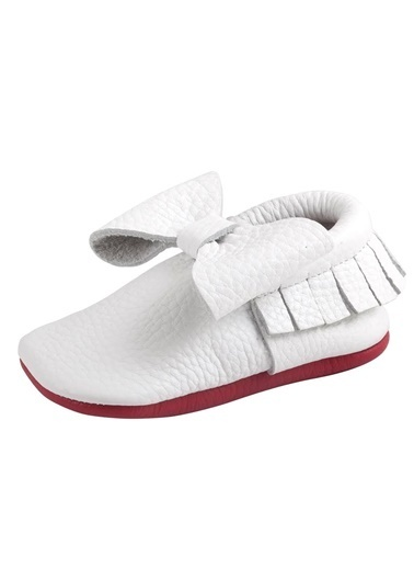 Moots Moots Beyaz Fiyonklu Kırmızı Taban Ayakkabı Beyaz